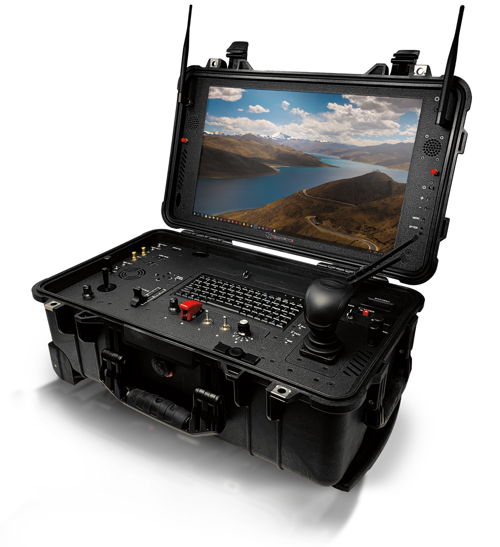 desert rotor ground control drone system black